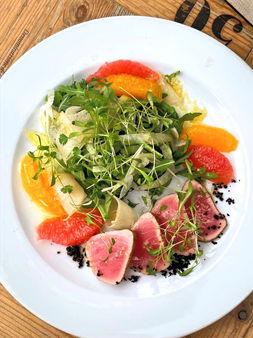 Салат с тунцом и оцитрусами 690