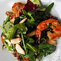 Салат с тигровыми креветками