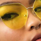 yellow lens.