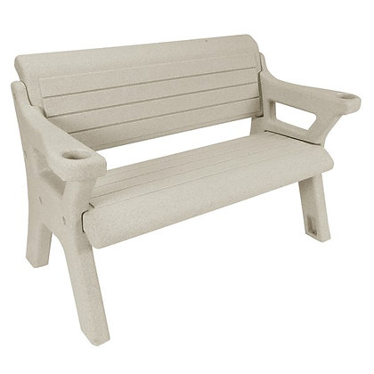 4' Pebble Beach Wave Dock Bench