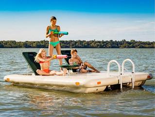 Otter Island - the Ultimate Swim Raft