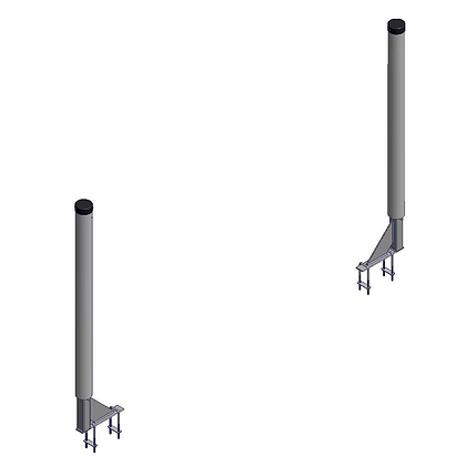 Single Vertical PVC Guide-On