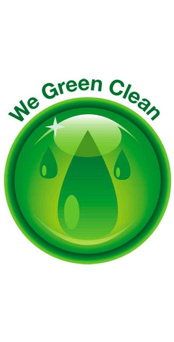 A 'We Green Clean' happy face diagram. Cute!