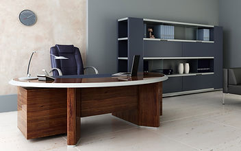 A spotless office - handsome and clean.