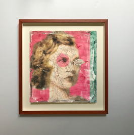 Woman with a pink eye