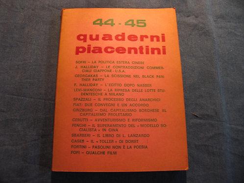 AA. VV. - Quaderni Piacentini N° 44-45 - 1971