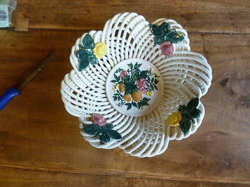 Ciotola intrecciata artigianale in ceramica