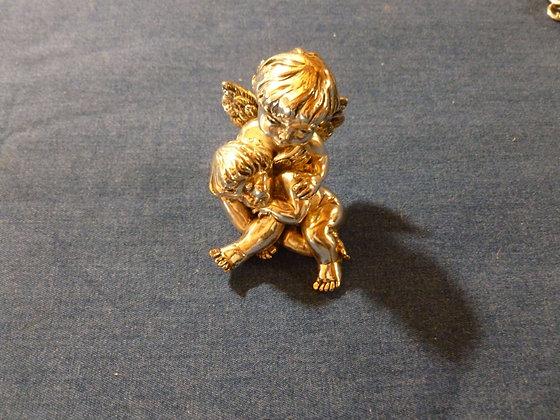 Bomboniera angioletto con putto placcato argento Di Cristofalo