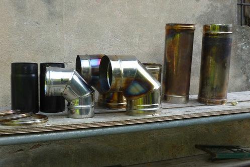 Raccordi tubi canne fumarie acciaio