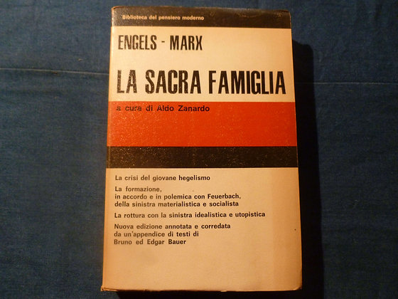 F. Engels, K. Marx - La sacra famiglia - 1972