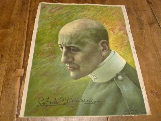 D'Annunzio, oleografia su tela - 1921
