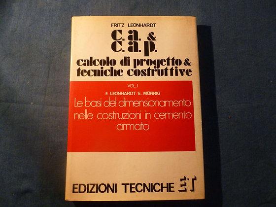 Fritz Leonhardt - Calcolo di progetto e tecniche costruttive - 1976