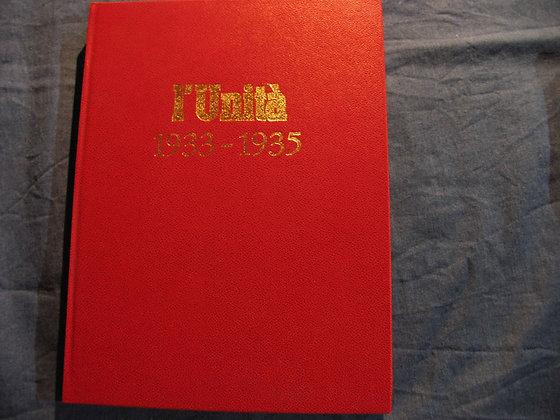 L'unità 1933 - 1935 - reprint del 1974