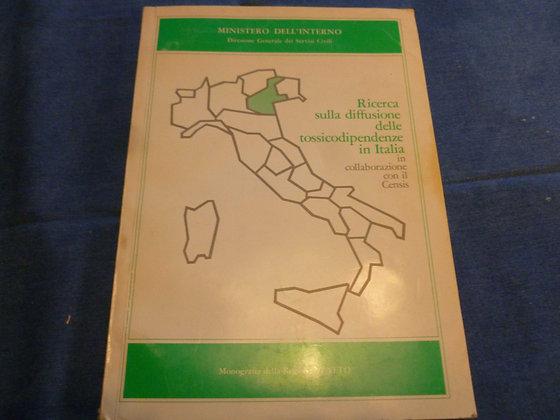 AA.VV. - Ricerca sulla diffusione delle tossicodipendenze in Italia - 1983