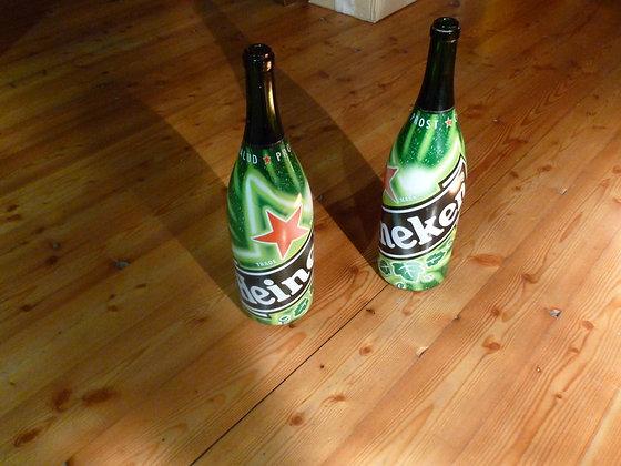 Coppia di bottiglie Heineken da 3 litri
