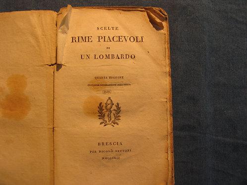 Luigi Grossi - Scelte rime piacevoli di un lombardo - 1812