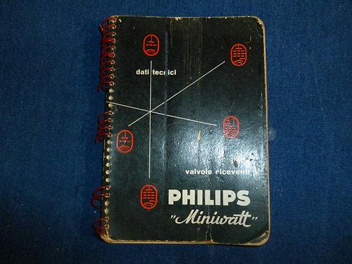 """Dati tecnici delle valvole riceventi Philips """"Minivatt"""""""