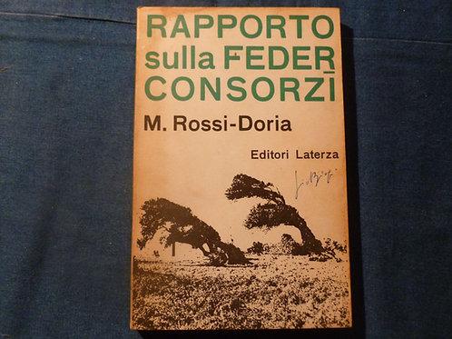 M. Rossi Doria - Rapporto sulla Federconsorzi - 1963