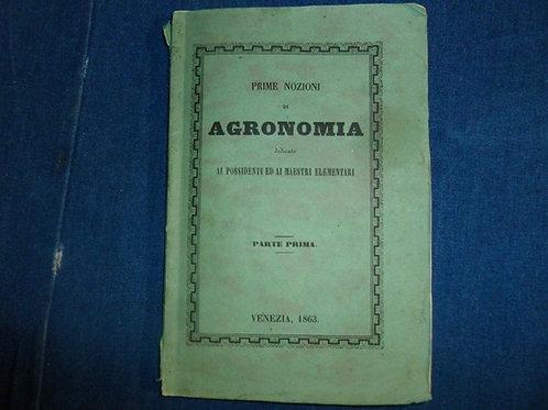 Melchisedecco Sutto - Prime Nozioni di Agronomia - 1863
