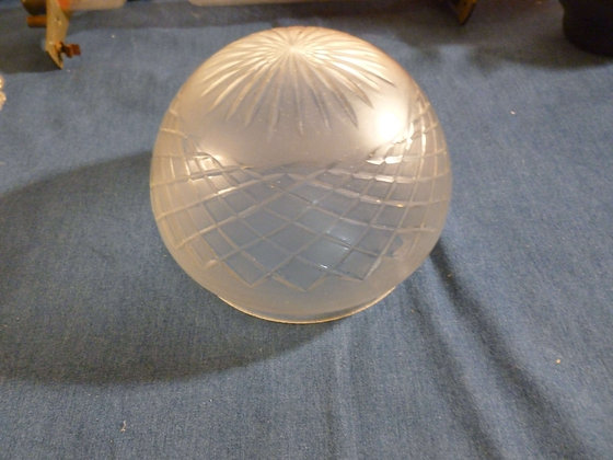 Paralume a calotta vintage in vetro inciso