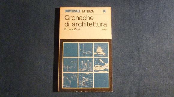 Bruno Zevi - Cronache di architettura - indici - 1970