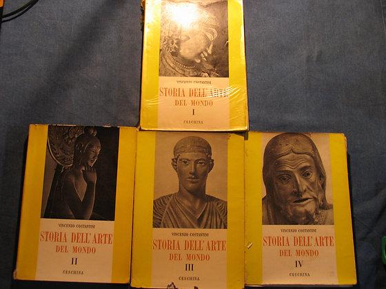 Vincenzo Costantini - Storia dell'arte del mondo I II III IV  - 1956