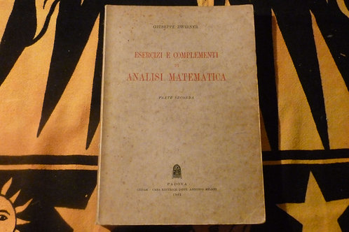 G. Zwirner - Esercizi e complementi di analisi matematica - 1962