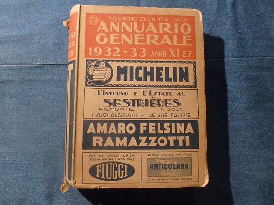 Annuario Generale  1932 - 1933 anno XI E.F.
