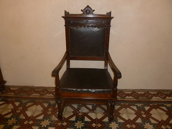 Sedia a trono Neorinascimento