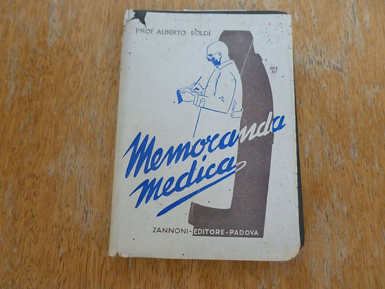 A. Soldi - Memoranda medica - 1939