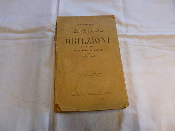 P. S. Franco - Risp. pop. alle obiezioni più comuni contro la religione - 1889