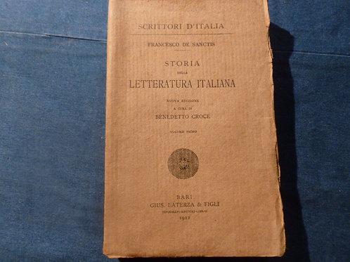 F. De Sanctis - Storia della letteratura italiana vol. 1 - 1912