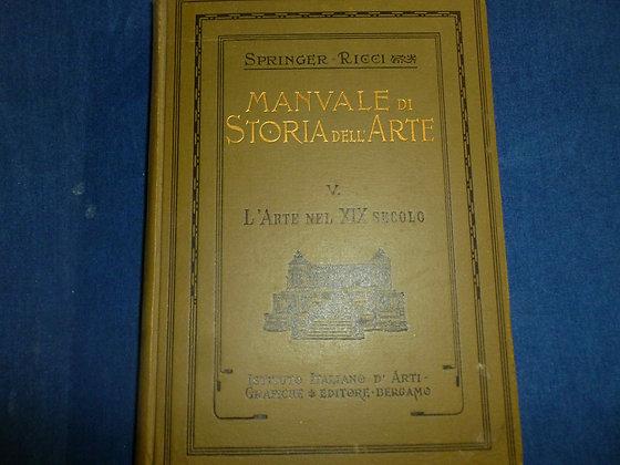 Springer Ricci - Manuale di storia dell'arte, volume 5 - 1924