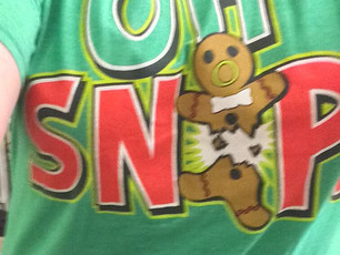 Why am I the only one in a Christmas shirt?