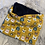 Thumbnail: Small Mustard Bunnies in Glasses Snood with Navy lining to fit 1-6yrs
