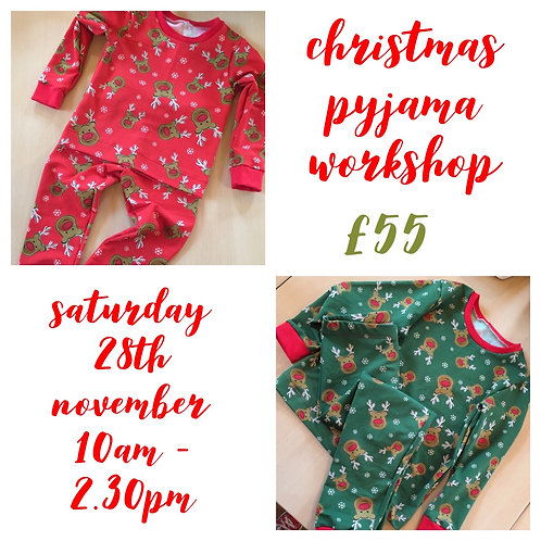 Christmas Pyjama Workshop - Saturday 28th November 10am till 2.30pm