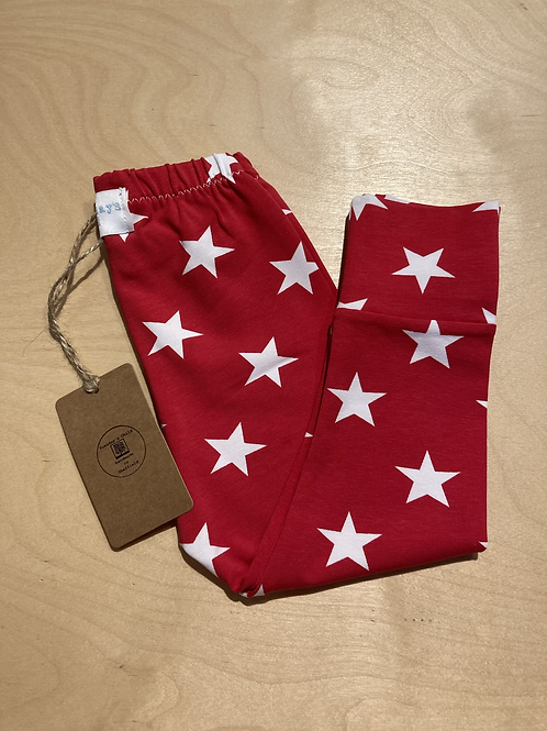 Red Star Leggings Age 9-12 months