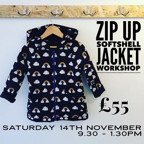 Zip up soft shell jacket workshop - Saturday 14th November  - 9.30 till 1.30