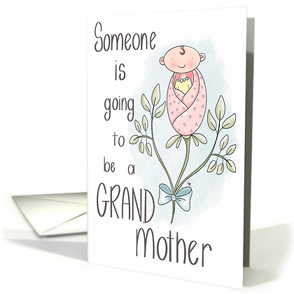 Cute Expecting Grandma Card - Cute Announcement Card- Cute Greeting Card