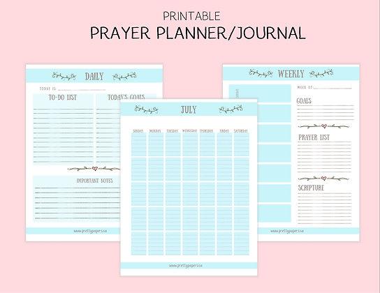 Blue Printable Prayer Journal