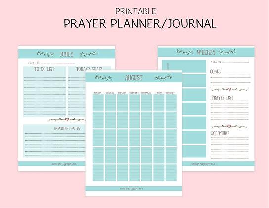 Turquoise Printable Prayer Journal