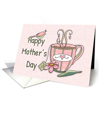 Happy Mother's Day with a Pink Polka Dot Mug