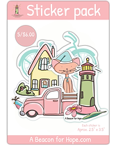 Variety 5 pkg - cute pastel stickers - assorted cute stickers