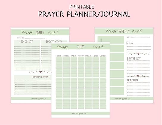 Green Printable Prayer Journal