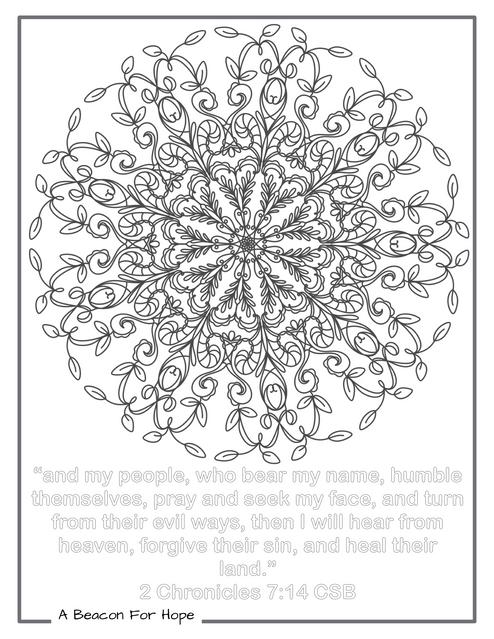 Mandala Colouring Page 1