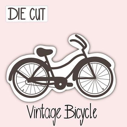Cute Black Bicycle Sticker - Die Cut Sticker - Vintage Bicycle Sticker