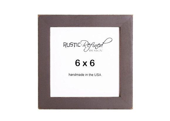 "6x6 1"" Gallery Picture Frame - Chocolate Brown"