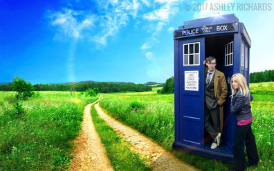 The Doctor and Rose Tyler #DoctorWho #Cosplay #Photoshop
