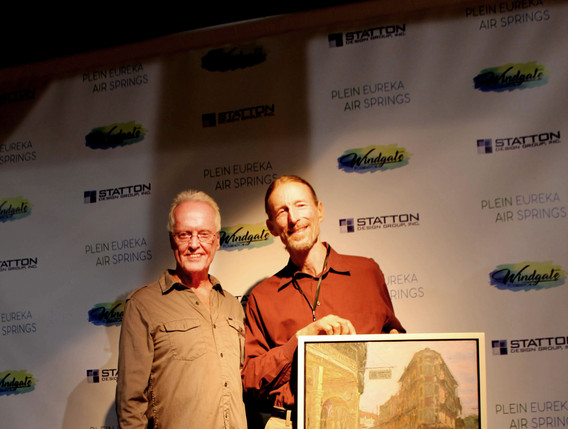 First Prize Winner, Phil Sandusky with Judge, John Cook