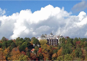 Crescent Hotel from East Mountain Gazebo Overlook